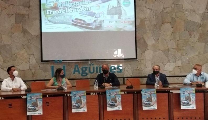 """El consejero de Deportes del Cabildo puso """"en marcha"""" un Rallysprint que sigue creciendo"""